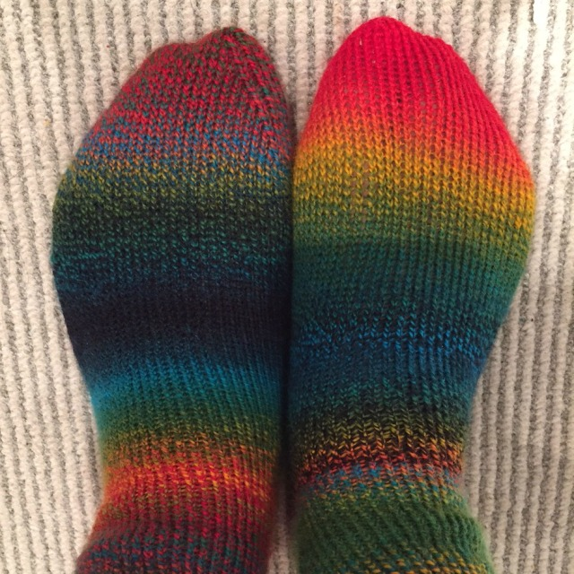 Hand knit socks, Flowerpot Designs